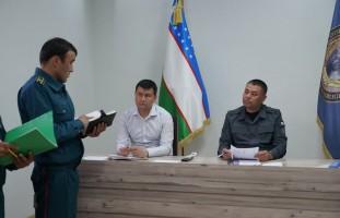 Ички ишлар бошқармаси бошлиғи полковник Шухрат Алиевнинг профилактика инспекторлари билан …